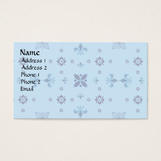 Extravagantes Blau Visitenkarte