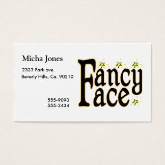 Extravagantes Gesicht Visitenkarte