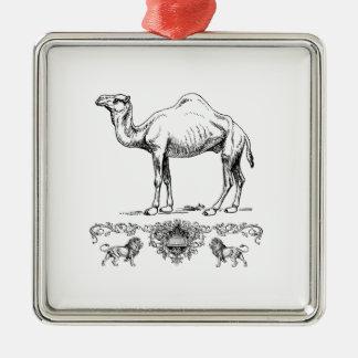 extravagantes Löwekamel Silbernes Ornament