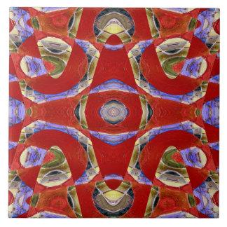 extravagantes rotes abstraktes große quadratische fliese