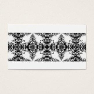 Extravagantes Schwarzweiss-Muster Visitenkarte