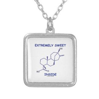 Extrem süßes Innere (Steviol Molekül) Halskette Mit Quadratischem Anhänger