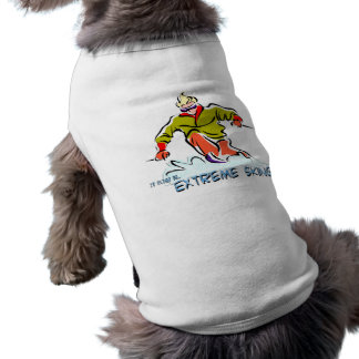 Extremes Skifahren Ärmelfreies Hunde-Shirt