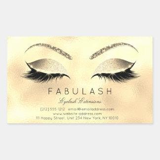 Eyelash Extension Makeup Beauty Salon Glam Glitter Rechteckiger Aufkleber
