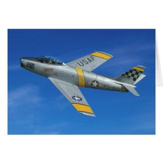 "F-86F ""Beautious maskuliner Typ "" Grußkarte"