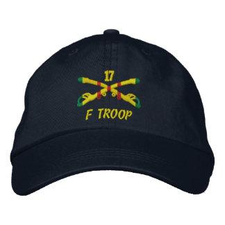 F-Truppe, 17. Kavallerie gestickter Hut