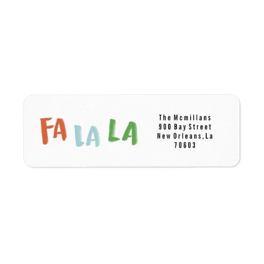 Fa-La-La-Feiertags-Rücksendeadressen-Aufkleber Rücksende Aufkleber