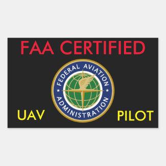 FAA ZUGELASSENER DROHNE-AUFKLEBER RECHTECKIGER AUFKLEBER