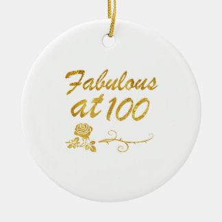 Fabelhaft bei 100 Jahren Rundes Keramik Ornament