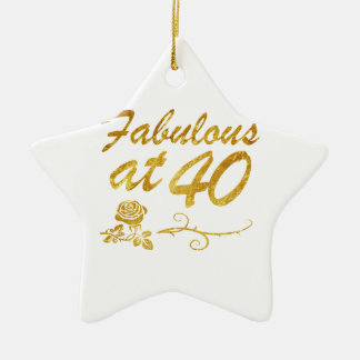 Fabelhaft bei 40 Jahren Keramik Stern-Ornament