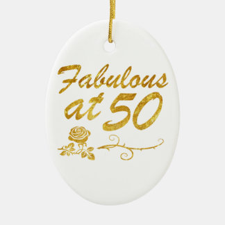 Fabelhaft bei 50 Jahren Ovales Keramik Ornament