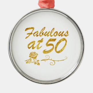 Fabelhaft bei 50 Jahren Rundes Silberfarbenes Ornament