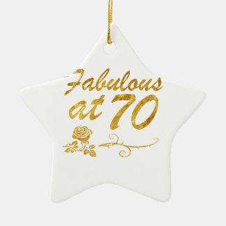 Fabelhaft bei 70 Jahren Keramik Stern-Ornament