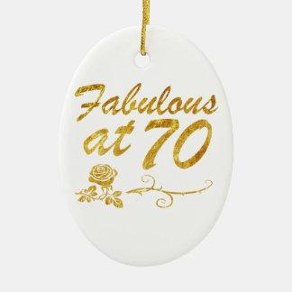 Fabelhaft bei 70 Jahren Ovales Keramik Ornament