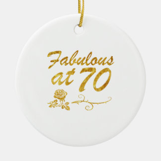 Fabelhaft bei 70 Jahren Rundes Keramik Ornament