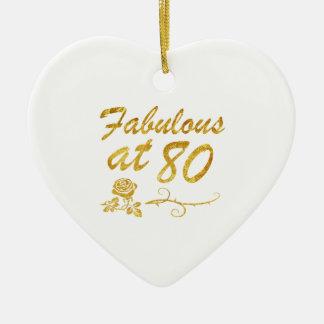 Fabelhaft bei 80 Jahren Keramik Herz-Ornament