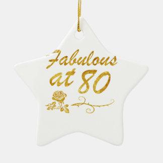Fabelhaft bei 80 Jahren Keramik Stern-Ornament