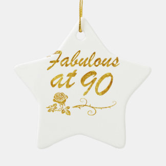 Fabelhaft bei 90 Jahren Keramik Stern-Ornament
