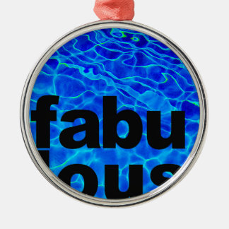 fabelhaft rundes silberfarbenes ornament
