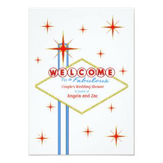 Fabelhafte Las- Vegaszeichen-Polterabend-Einladung 12,7 X 17,8 Cm Einladungskarte