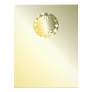 Facettierter Edelstein-GelbBeryl 21,6 X 27,9 Cm Flyer