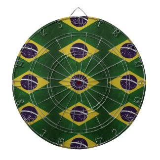 Fahne Brasiliens ,(grunge) Dartscheibe