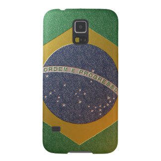 Fahne Brasiliens Metalizada Galaxy S5 Hülle