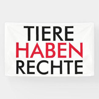 """Fahne/Flagge """"TIERE HABEN RECHTE"""" Banner"""