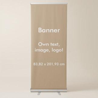 Fahnen-vertikales einziehbares uni Gold Ausziehbarer Banner