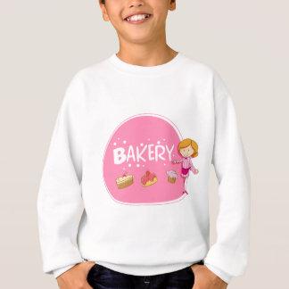 Fahnenentwurf mit Bäcker und Kuchen Sweatshirt