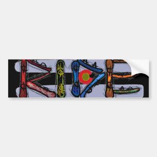 Fahrcoloradosnowboard-Autoaufkleber Autoaufkleber