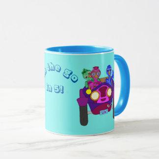Fahren der Kinder durch Happy Juul Company Tasse