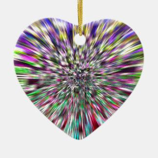 Fahren Sie fort, tiefer zu schauen Keramik Herz-Ornament