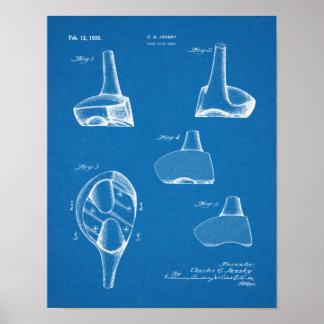 Fahrer-Golf-Verein-Patent-Kunst 1935, die Druck Poster