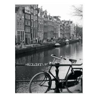Fahrrad durch Kanal Postkarte