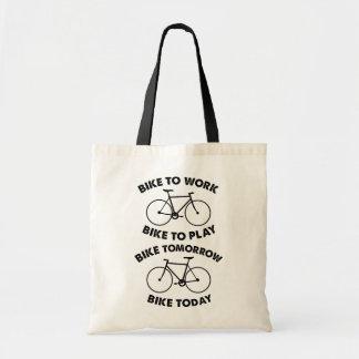 Fahrrad-für immer - cooles Radfahren Budget Stoffbeutel