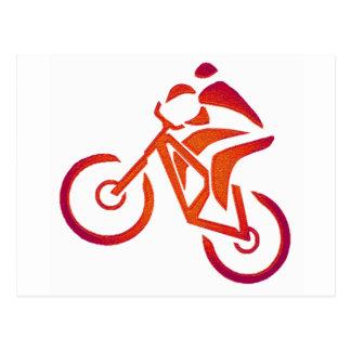 Fahrrad gab selben an postkarte