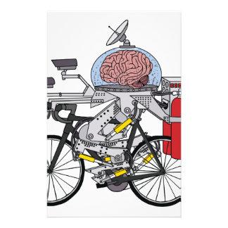 Fahrrad-Gehirn (Radfahrer des Jahres 3000) Personalisiertes Druckpapier
