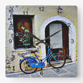Fahrrad Quadratische Wanduhr