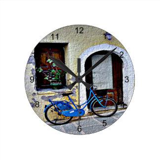 Fahrrad Runde Wanduhr