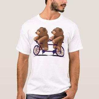 Fahrrad-Tandem, Teddybär-Druck T-Shirt
