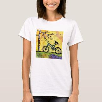 Fahrrad u. Raben-T-Shirt ein großartigen Tag für T-Shirt