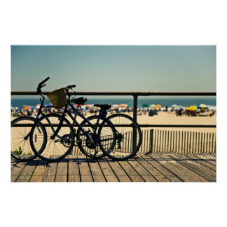 Fahrräder auf der Promenade Poster
