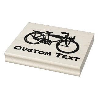 Fahrradgewohnheits-Briefmarke Gummistempel