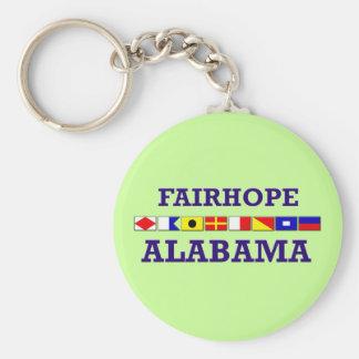 Fairhope Flagge Keychain Standard Runder Schlüsselanhänger