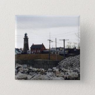 Fairport Hafen-Fotoknopf Quadratischer Button 5,1 Cm