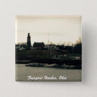 Fairport Hafen, Ohio-Fotoknopf Quadratischer Button 5,1 Cm