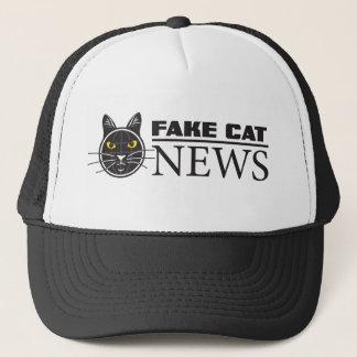 Fake-Katzen-Nachrichten-Fernlastfahrer-Hut Truckerkappe