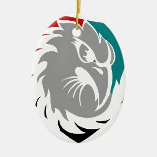 Falke-Sicherheits-Schutz-Schild Ovales Keramik Ornament
