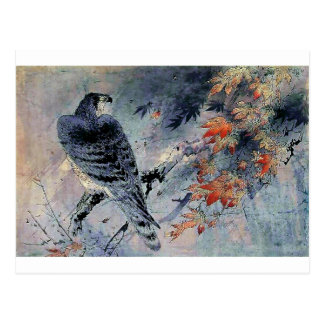 Falke-Vogel-Japanerdruck Postkarte